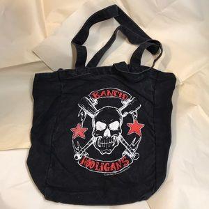 RANCID Hooligans 2005 Skull Black Tote Bag